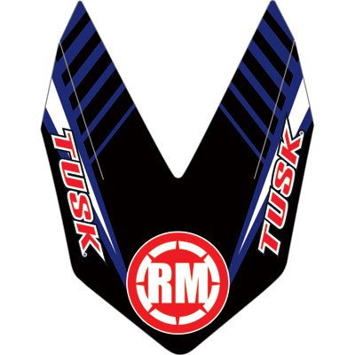 Attack Graphics Turbine Front Fender Decal Blue for Yamaha YZ250 -