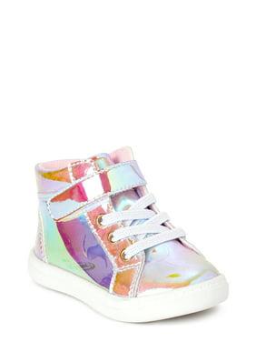Wonder Nation Iridescent High-Top Sneaker (Infant Girls)