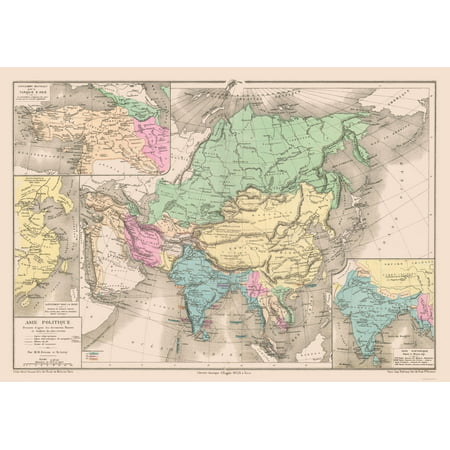Map Of Asia For Students.International Map Political Map Of Asia Drioux 1882 32 86 X 23