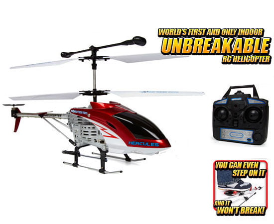Hercules Unbreakable 3.5CH RC Helicopter (Color May Vary) by World Tech Toys