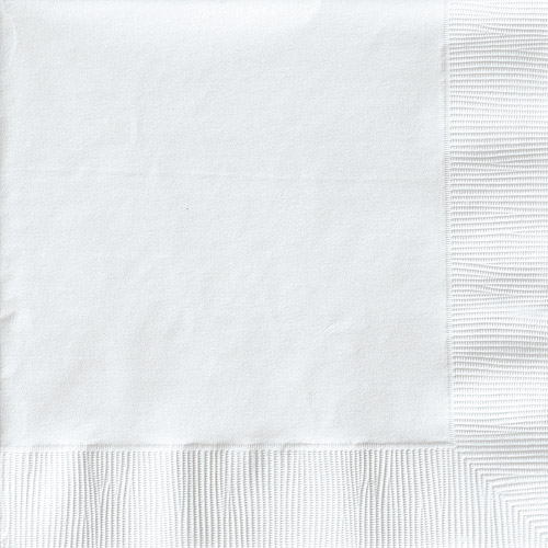 Creative Expressions Beverage Napkins 50-Pack, White by CREATIVE CONVERTING