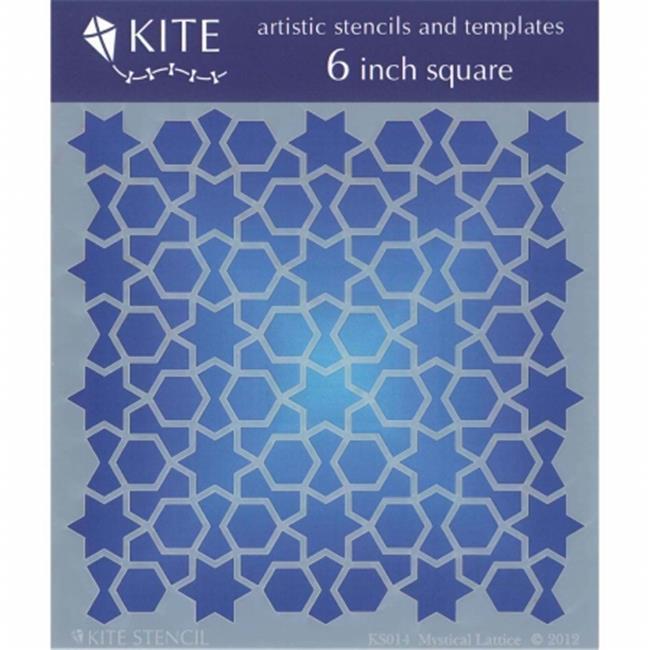 KS-14 Judikins Kite Stencil, 6 inch Square - Mystical Lattice