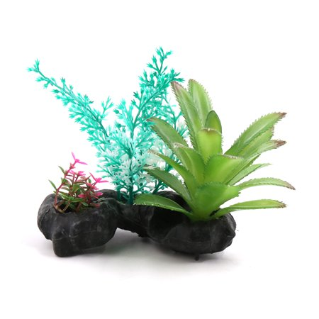 Fish Tank Terrarium Plants Ceramic Base Decoration For Reptiles