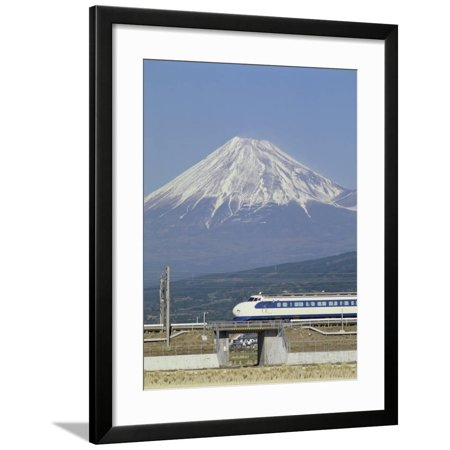 Bullet Train, Mount Fuji, Japan Framed Print Wall Art Bullet Train Mount Fuji Japan