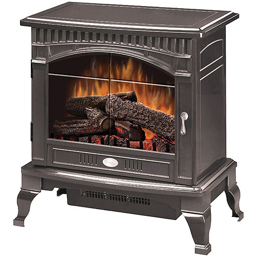 Dimplex Electric Flame Traditional Stove, Gloss Pewter