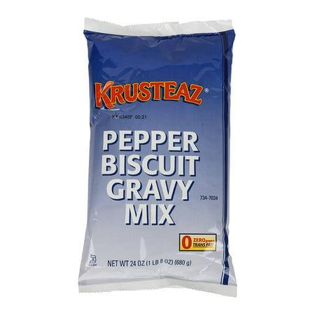 Continental Mills Krusteaz Pepper Biscuit Gravy Mix, 1.5 Pound -- 6 per -
