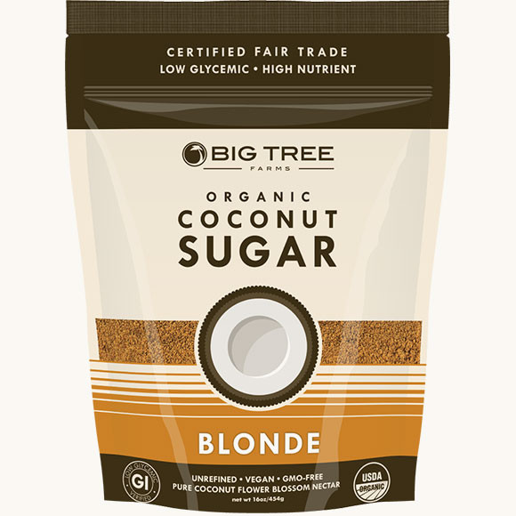 Big Tree Farms Organic Coconut Palm Sugar Blonde  (4x5 LB)