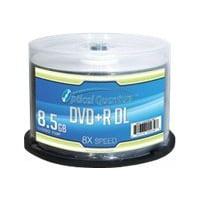 DVD+R DL 8X 8.5GB OPTICAL QUANTUM BLANK MEDIA
