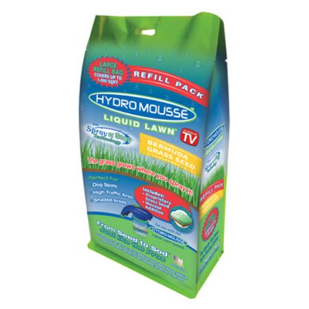 Hydro Mousse 17500-6 Liquid Lawn Bermuda Grass Seed, Spray-n-Stay, As Seen On