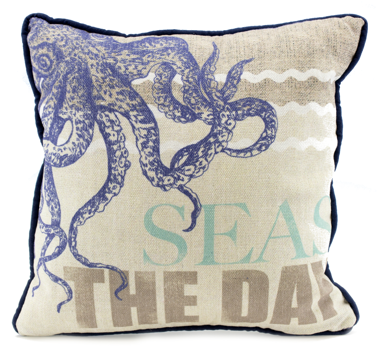 Nautical Seas The Day Octopus Tentacles Decorative Accent Pillow 12 Inch
