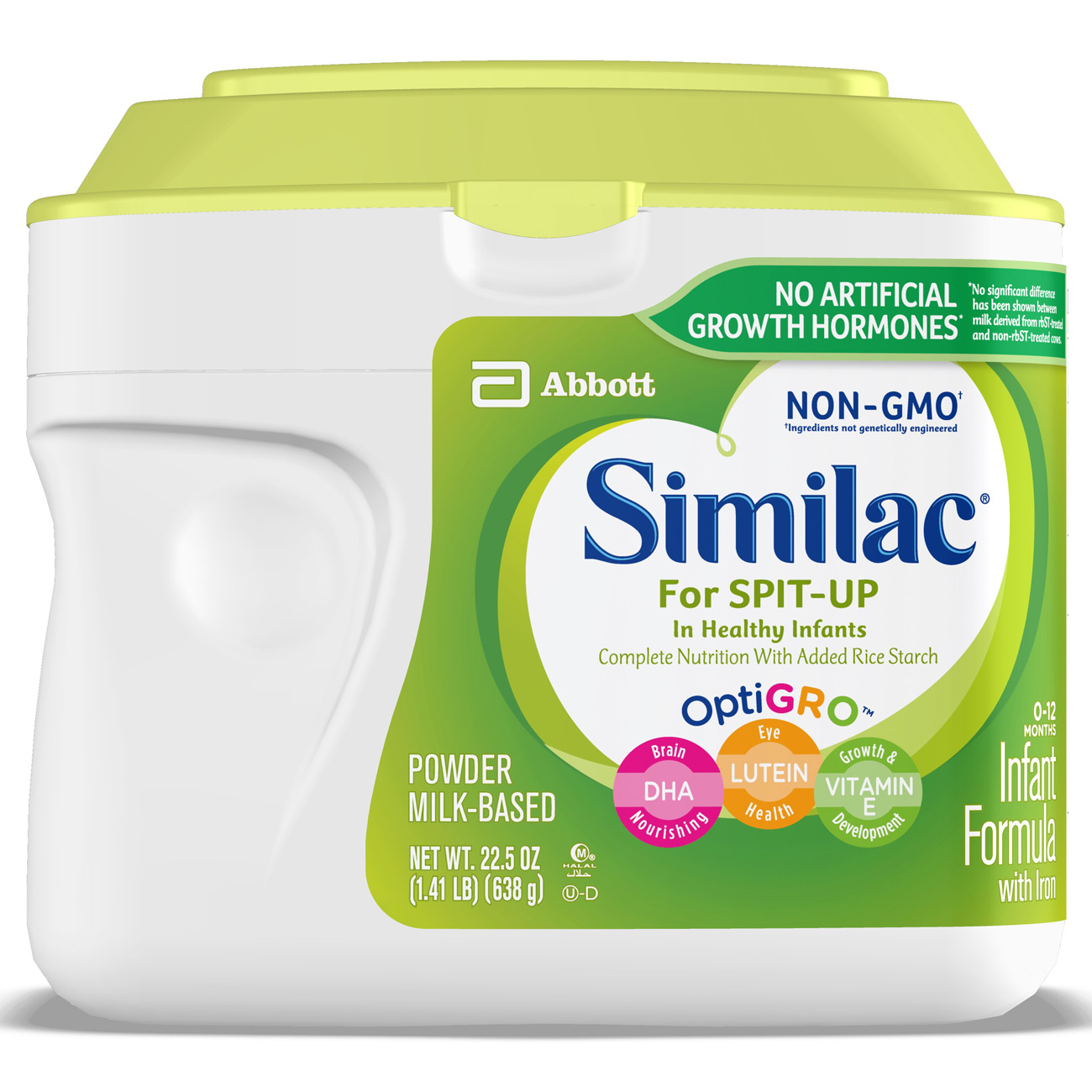 Similac for Spit Up Non-GMO Infant Formula with Iron Baby Formula 1.41 lb Canisters (Pack of 6) by Similac