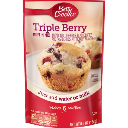 Betty Crocker Halloween ((3 Pack) Betty Crocker Triple Berry Muffin Mix, 6.5 oz)