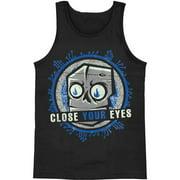 Close Your Eyes Men's  Robot Mens Tank Black
