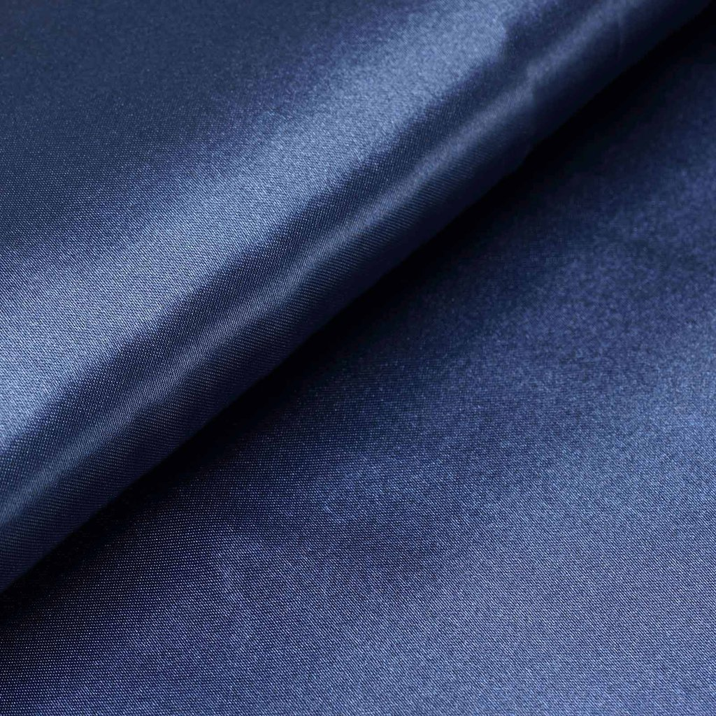 "54"" Wide x 10 yards Satin Fabric Bridal Bolt - Navy Blue"