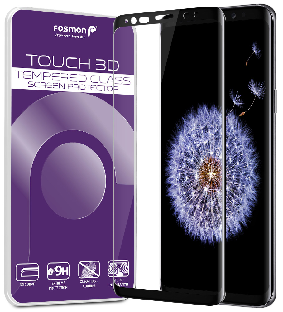 Galaxy S9 Screen Protector, Fosmon [TOUCH] Privacy 2-Way Tempered Glass Screen Shield for Galaxy S9 - 1 Year Warranty