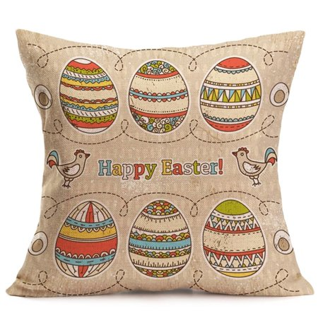 Voberry Easter Sofa Bed Home Decoration Festival Pillow Case Cushion - Easter Home Decorations