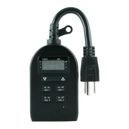 myTouchSmart Indoor/Outdoor Plug-in Simple Set Digital Timer, 1-Outlet, 33862