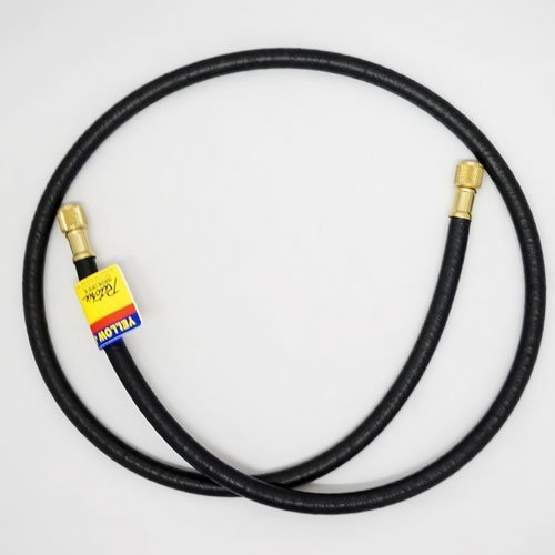 "Yellow Jacket 15672 PLUS II 3/8"" Heavy Duty Charging Hose, 3/8"" Straight x 3/8"" Straight Fittings, 72"""