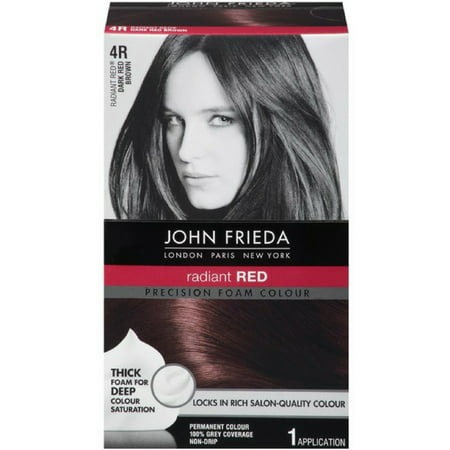 2 Pack - John Frieda Precision Foam Colour Radiant Red (Dark Red Brown) 4R 1 Each