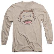 Curious George - Heathered George - Long Sleeve Shirt - Large