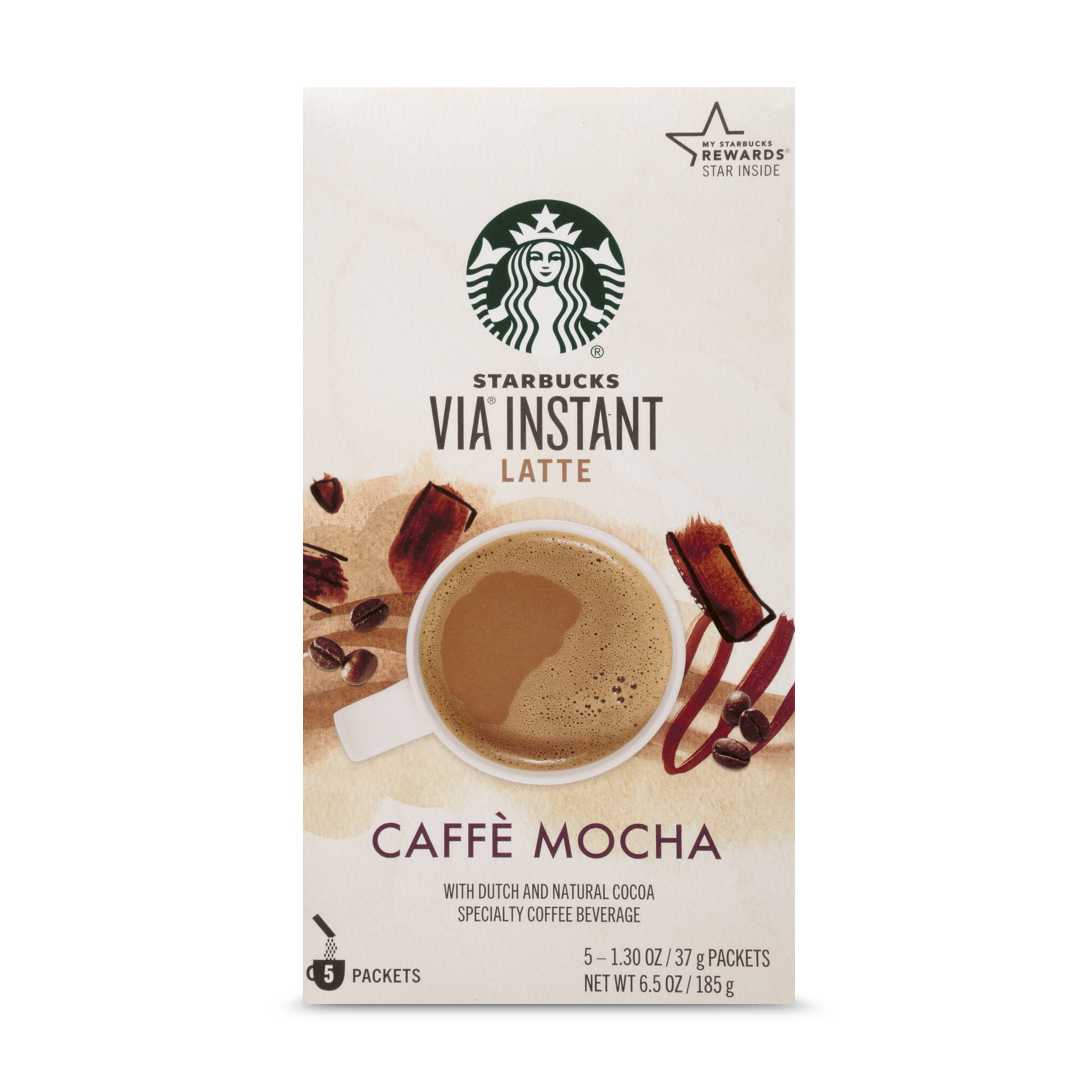 Starbucks VIA Instant Caffe Mocha Latte (1 box of 5 packets)