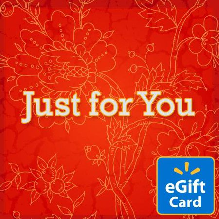 X65x Card - Red Flower Just for You Walmart eGift Card