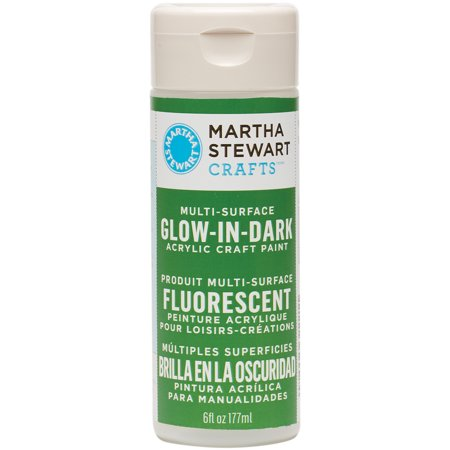 Martha Stewart Glow-In-The-Dark Paint 6oz-Green