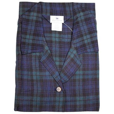 Gloria Vanderbilt - Ladies Plus Shorty Plaid Flannel Pajamas MULTICOLOURED / XXX-Large