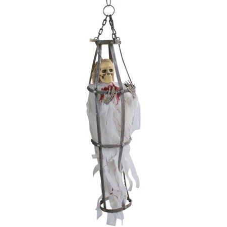 Caged White Ghoul Halloween Prop