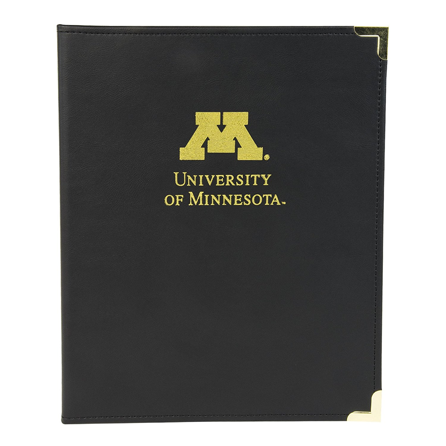 NCAA University of Minnesota Golden Gophers Business Portfolio with Brass Corners by Samsill