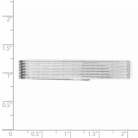 925 Sterling Silver Tie Bar Man Tac Fine Jewelry Gift For Dad Mens For Him - image 3 of 6