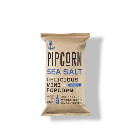 Pipcorn Mini Popcorn, Sea Salt, 4 - Mini Popcorn