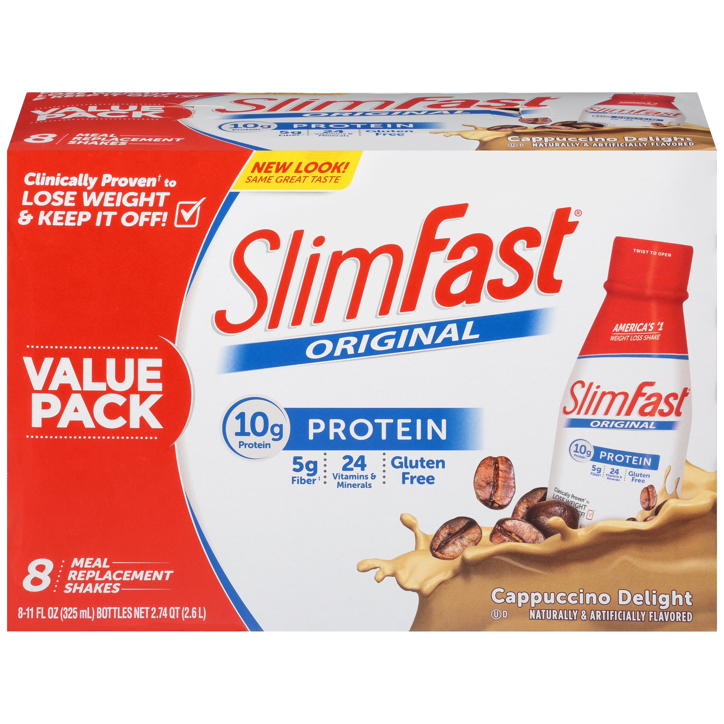 SlimFast® Original Cappuccino Delight Meal Replacement Shakes 8-11 fl. oz. Bottles