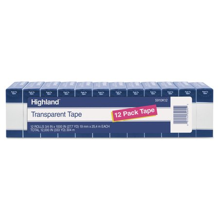 Highland Transparent Tape, 3/4