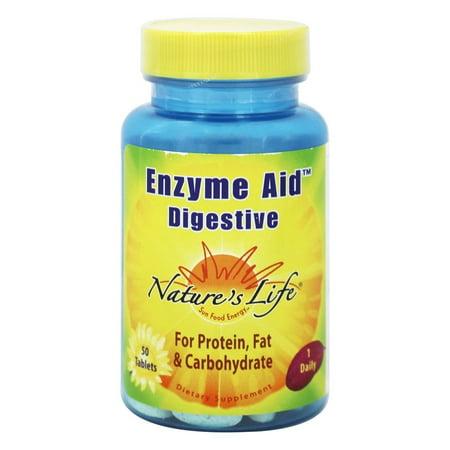 Nature's Life - Aide Enzyme Digesive - 50 comprimés