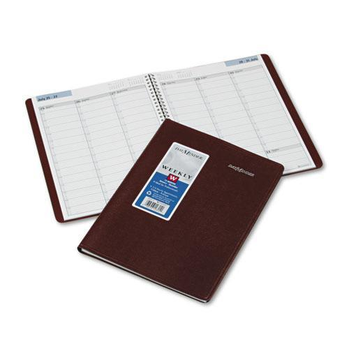 DayMinder Weekly Appointment Book 2015, Wirebound, 8 x 11 Inch Page Size, Burgundy (G520-14)