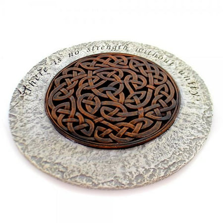 Unity Strength Bronze Endless Knot 12 Inch Polyresin Decorative Stepping
