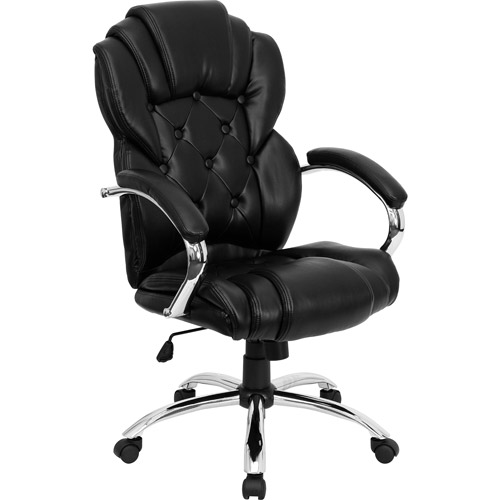 Transitional Leather Executive Office Chair, Black