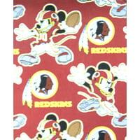 """Washington Redksins 40"""" x 50"""" Mickey Mouse Fleece Throw Blanket"""