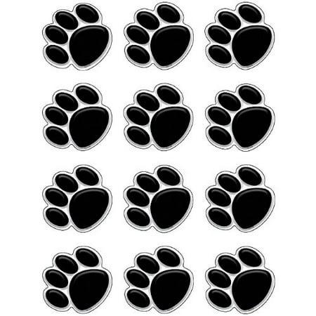 Teacher Created Resources Mini Accents, Black Paw Prints (5118) - image 1 de 1