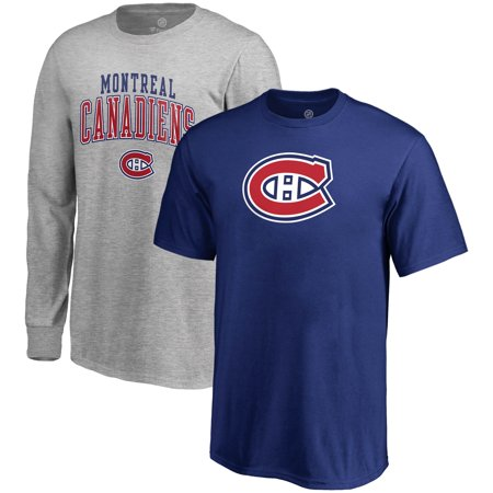 Montreal Canadiens Fanatics Branded Youth T-Shirt Combo Set - Blue/Gray - Montreal Canadiens Rink