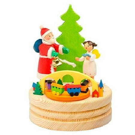 (Santa Claus is Coming to Town Erzgebirge German Wood Christmas Music Box)