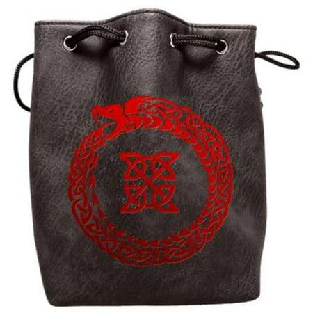 Black Leather Dice Bag - Ouroboros New Condition!