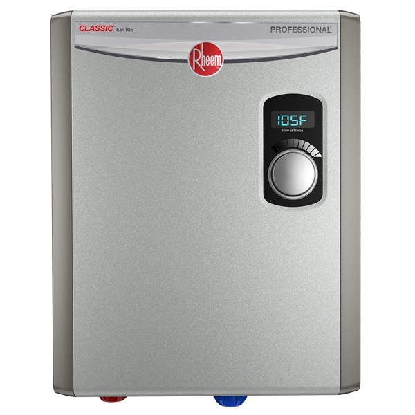 Best Tankless Water Heaters - Rheem RTEX-18 240V 2 Heating Chambers Residential Tankless Review