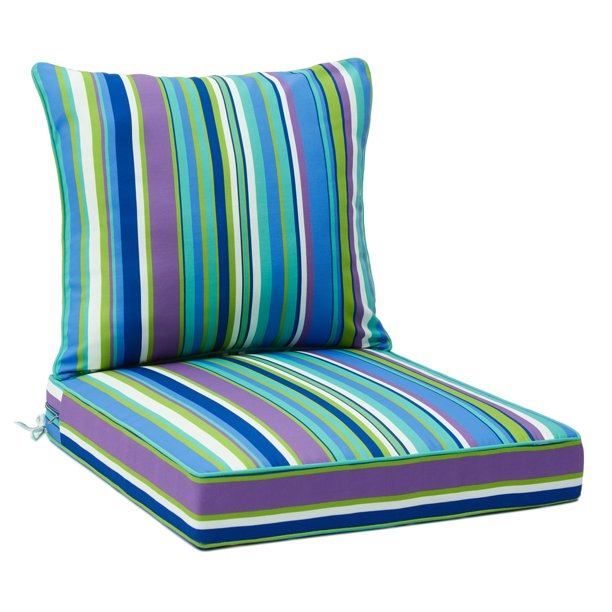 25 Inches Outdoor Deep Seat Cushion Set, Waterproof Garden Seat Cushion Covers