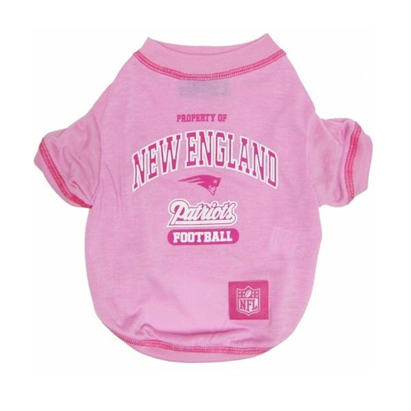 New England Patriots Pink Dog T-Shirt - X-Small