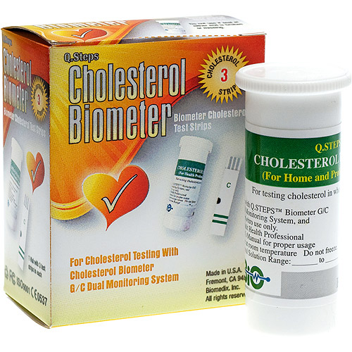 Cholesterol Biometer Cholesterol Test Strips, 2 Packs of 3
