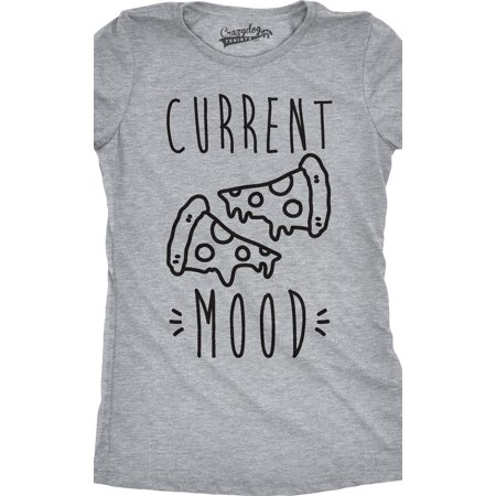 Womens Current Mood Pizza T shirt Funny Meme Graphic Tee For Ladies - Funny Halloween Meme 2017