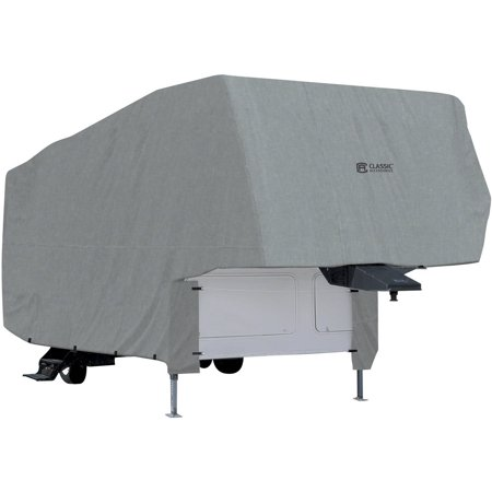 Classic Accessories OverDrive PolyPRO 1 5th Wheel Cover, Fits 20' - 41' RVs - Breathable and Water Repellant RV Cover 5th Wheel Cover Fits