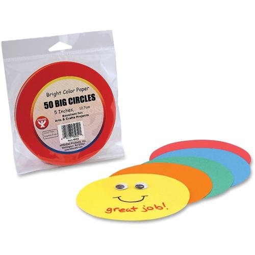 "Hygloss Color Paper Circles - 144 Piece(s) - 5"" - 1 Pack - Assorted"